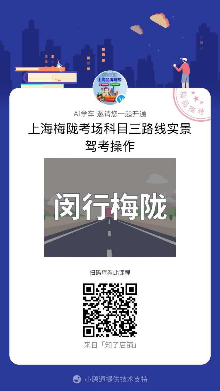 上海闵行区梅陇考场科目三实景操作视频教程